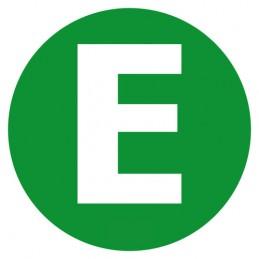 Contrassegno adesivo - E - Veicolo ecologico