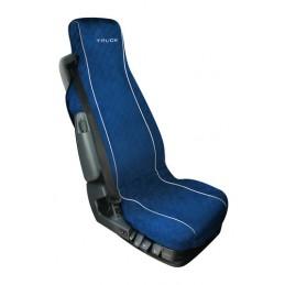 Silvia  coprisedile in cotone per camion - Blu