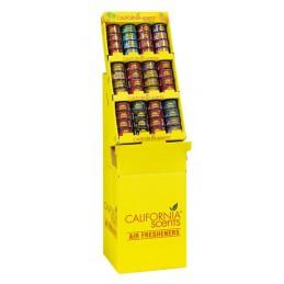 Espositore da pavimento con 48 deodoranti Car Scents