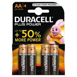 """Duracell Plus Power  stilo """"AA""""  4 pz"""