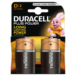 """Duracell Plus Power  torcia """"D""""  2 pz"""
