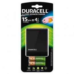 Duracell Hi-Speed Advance Charger con 4 batterie ricaricabili (2 AA + 2 AAA)