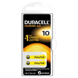 """Duracell Hearing Aid  """"10""""  6 pz"""