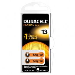 """Duracell Hearing Aid   """"13""""  6 pz"""