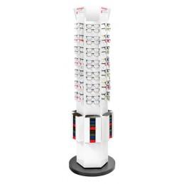 Espositore da terra girevole per 84 paia di occhiali