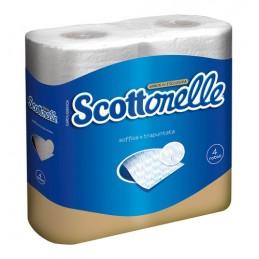 Set 4 rotoli da 160 strappi  carta igienica 2 veli