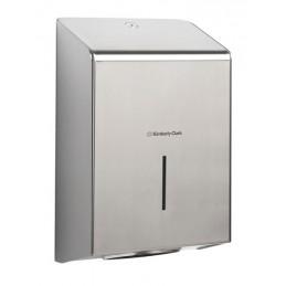 Dispenser in acciaio inox per asciugamani in carta intercalati