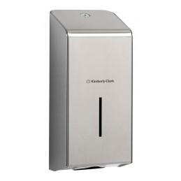 Dispenser in acciaio inox per carta igienca intercalata