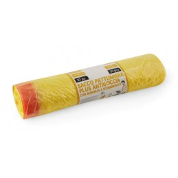 Rotolo 10 sacchi gialli profumati per raccolta differenziata - 70x105 cm