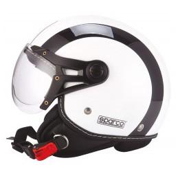 CASCO SPARCO RIDERS SP501 BIANCO / NERO-S
