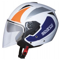 CASCO SPARCO RIDERS SP503 BIANCO / ARANCIO-XS