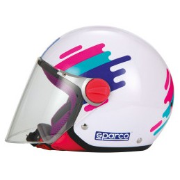 CASCO SPARCO RIDERS SP504 PANDA ROSA-YS