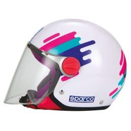 CASCO SPARCO RIDERS SP504 PANDA ROSA-YL