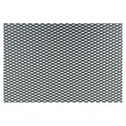Griglia alluminio nero 125x20 cm maglia extra stretta