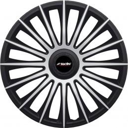 """Copricerchio 15"""" Austin Silver Black"""