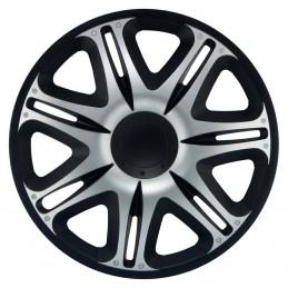 "Copricerchio 14"" Nascar Silver Black"